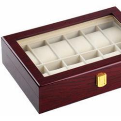 Hộp đựng đồng hồ loại 12 chiếc, bằng gỗ sơn piano