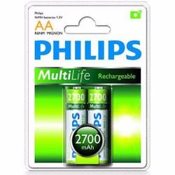 Pin sạc AA Philips vỉ 2 viên R6B2A270 2700 mAh