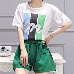 Set áo thun hoạ tiết quần short