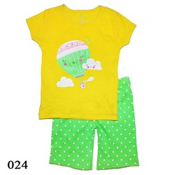 024 - Bộ bé gái Carters - Green Balloon -  Tinker Bell Kids