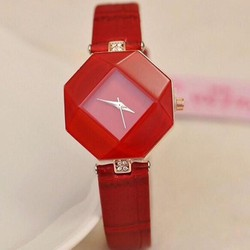 Đồng hồ đeo tay nữ cá tính ĐH09 đỏ