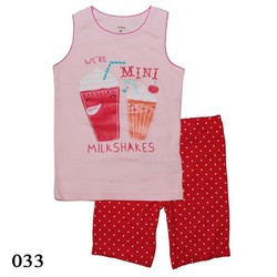 033 - Bộ bé gái Carters - Milkshakes -  Tinker Bell Kids