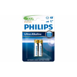 PIN KIỀM ULTRA ALKALINE AAA 1.5v - vỉ 2 viên   LR03E2B