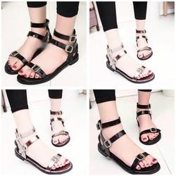 giày sandal quai mảnh cài 2 quai