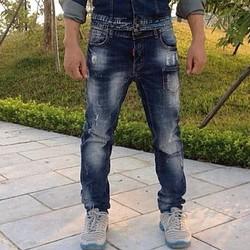 Quần jeans nam rách xước đẹp
