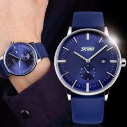 Đồng hồ đeo tay cao cấp ĐH04 xanh đen, mặt kính chống nước