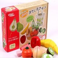 Bộ cắt hoa quả gỗ có nam châm Woody Puddy Nhật Bản