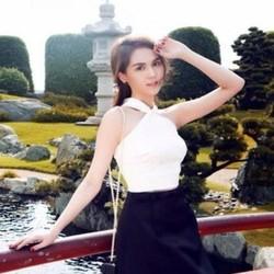 Sét áo kiểu cổ yếm và chân váy xòe xinh như Ngọc trinh SEV75