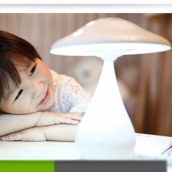 Đèn để bàn thông minh, hình cây nấm xoay 360 độ, lọc không khí