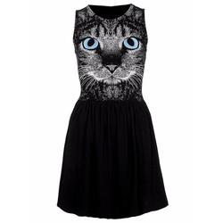 Đầm xòe sát nách hình mèo sành điệu TV1146