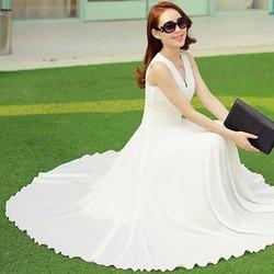 Đầm Maxi Sachi TRẮNG