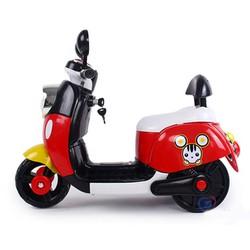 Xe máy điện trẻ em  kiểu dáng Vespa Mickey Màu đỏ
