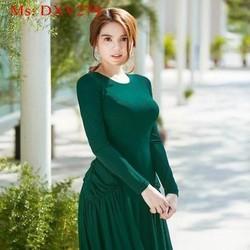 Đầm xòe form dài xếp ly sang trọng và xinh như ngọc trinh DXV279