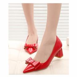 Mã số MM90142 - Giày cao gót nơ xinh xắn