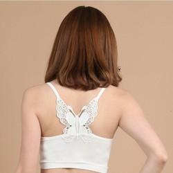 Áo croptop 2 dây lưng bướm