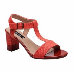 Giày sandal gót vuông màu vân rắn Mirabella 373
