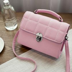 Túi chữ nhật đeo chéo mầu hồng