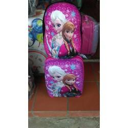 Bộ vali kéo trẻ em - nhựa dẻo
