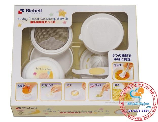 Bộ chế biến thức ăn dặm kiểu Nhật Richell 1