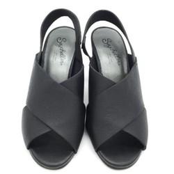 Sandal da thật quai chéo