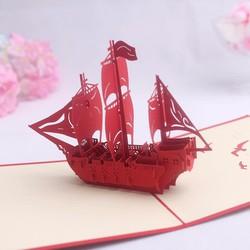 Thiệp thuyền 3D