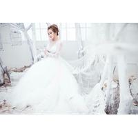áo cưới trắng tay ren hình thật áo đã may