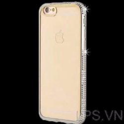 Ốp lưng iPhone 5-5s-se dẻo mẩu TH đính đá - Màu Bạc