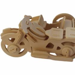 3D Puzzle Wooden xếp hình xe ba bánh 3D HPM5240
