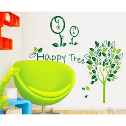 decal dán tường cây hạnh phúc