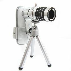 Ống kính zoom 12x cho điện thoại - màu đen bạc