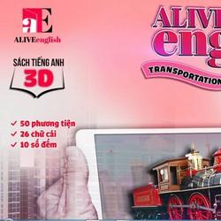 Sách học 3D thực tế ảo phương tiện giao thông alive english