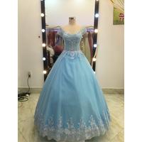 áo cưới xanh biển giá mềm