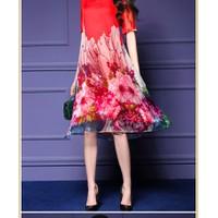 Đầm suông phối hoa cực đẹp