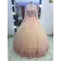 áo cưới cam dâu chan ren 3d cực xinh