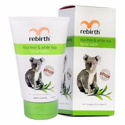 Sữa Rửa Mặt Úc dành cho da nhờn tinh chất Trà Xanh, Trà Trắng Rebirth