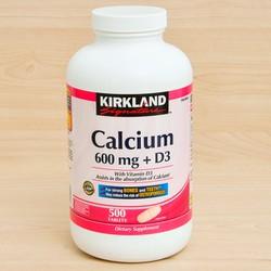Viên Uống Bổ Sung Canxi Kirkland Signature Calcium 600mg D3 500 Viên