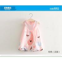 [ 9-25kg] Đầm kate sô thêu hoa tiết độc và lạ cho bé ngày hè