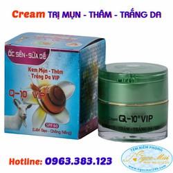 Kem trị mụn - Thâm - Trắng da Ốc Sên - Sữa Dê Q10 VIP