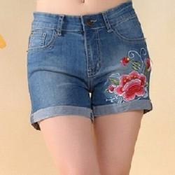 Quần short Jean thêu thời trang - QS009