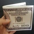 Bóp Da Nam Hình Tờ Tiền 100 USD Da Nhám Xịn