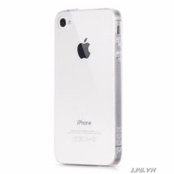 Ốp lưng iPhone 4-4s  Silicon siêu mỏng trong suốt