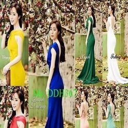 Đầm dạ hội thiết kế chéo cổ và hở lưng sang trọng quyến rũ DDH367