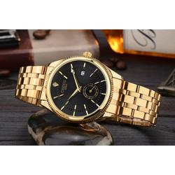 Đồng hồ Chính hãng CHENXI thép không gỉ màu vàng - HA28