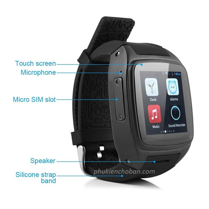 Đồng hồ thông minh gắn sim Z1 smartwatch wifi chống nước bh 12 tháng 5