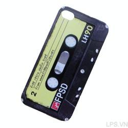 Ốp lưng iPhone 4-4s dẻo hình băng Cassette