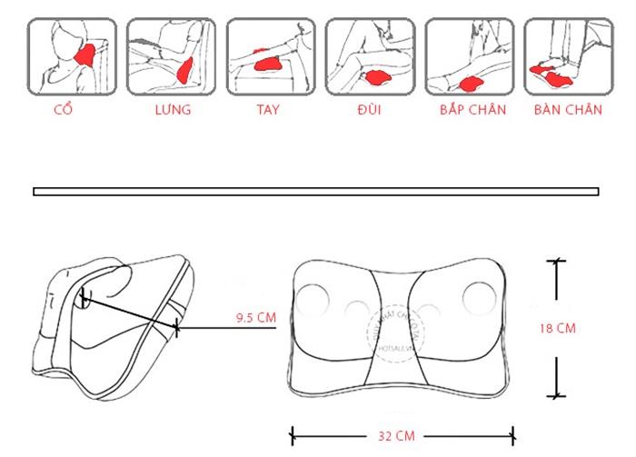 Gối massage hồng ngoại 4