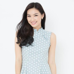 Đầm xòe Fad fashion màu xanh chấm bi