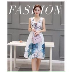 Váy cổ tim họa tiết hoa - LV1258 - DA17