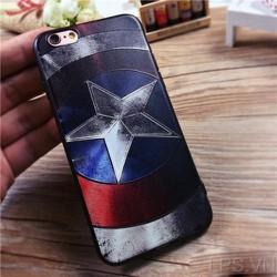 Ốp lưng iPhone 4-4s in nổi hình Captian America