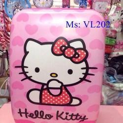 Va li kéo du lịch hình hello kitty trái tim đáng yêu VL202